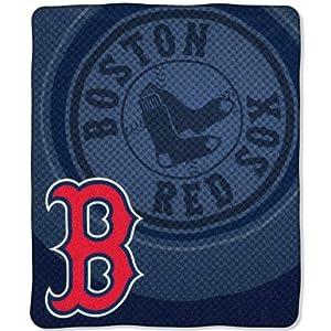 MLB Boston Red Sox Raschel Plush Throw Blanket, Retro Design by Northwest
