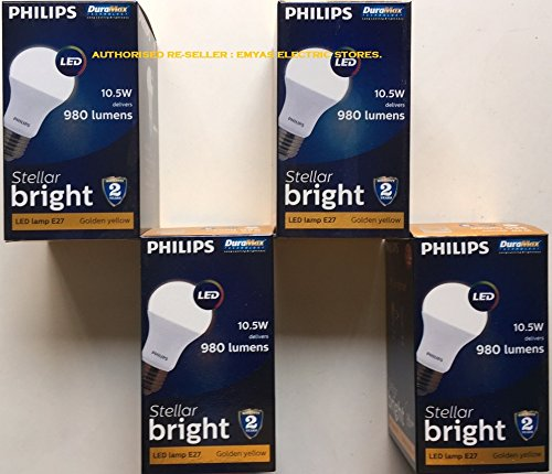 Stellar Bright 10.5W E27 980L LED Bulbs (Warm White, Pack of 4)