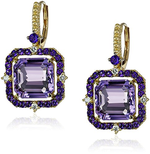 Judith-Ripka-Lila-Lavender-Amethyst-Asscher-and-Diamond-Drop-Earrings-110cttw-G-H-Color-SI1-Clarity