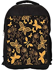 """Snoogg Golden Butterfly Casual Laptop Backpak Fits All 15 - 15.6"""" Inch Laptops"""