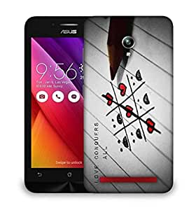 Snoogg Love Conquers All Designer Protective Phone Back Case Cover For Asus Zenfone GO