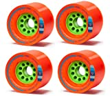 Orangatang Kegel 80mm 80a Orange Longboard Wheels Set of 4 New