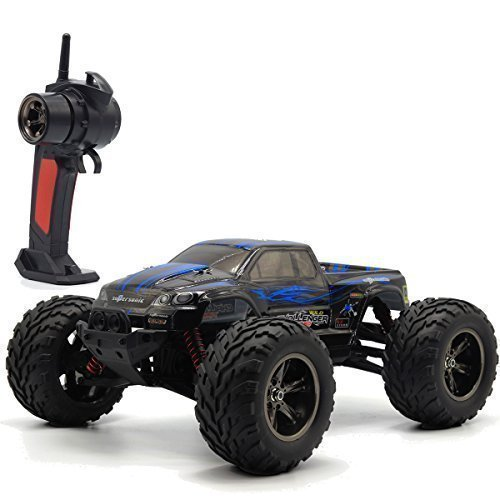TOZO C2031 RC CARS High Speed 30MPH 1/12 Scale RTR Remote control Brushed Monster Truck Off road Car Big Foot RC 2WD ELECTRIC POWER BUGGY W/2.4G Challenger Blue