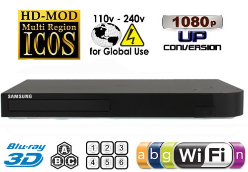 Best Buy! Samsung BD-H5900 Upgraded Wi-Fi Multi Region Zone Free Blu Ray DVD Player - PAL/NTSC 10
