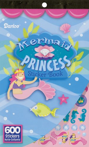 Darice Sticker Book, 9.5 by 6-Inch, Mermaid Princess, 600-Pack