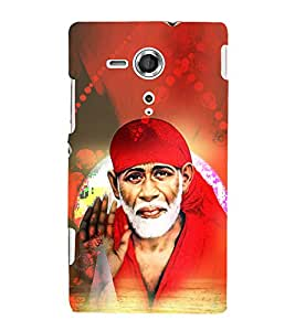 Shirdi Sai Baba 3D Hard Polycarbonate Designer Back Case Cover for Sony Xperia SP :: Sony Xperia SP M35h