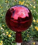 Gartenkugel (R24) Rosenkugel Gartenkugeln Glas 25 cm groß...