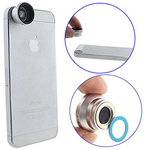 Ancerson Universal Lens Camera Lens Kit 150 Degree Wide Angle Lens +0.67X Macro Lens For Smartphones Mobile Phones: Iphone 3 3G 3S 4 4S 5 5C 5S, Samsung Galaxy S4 I9500/ S5 I9600/Note 2 N7100/ Note 3 N9000/ Mega 6.3 I9200/ Mega 5.8 I9152, Htc One M7/ X/ M