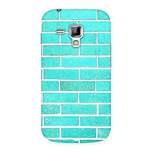 Special Brick Cyan Back Case Cover for Galaxy S Duos