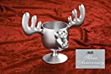 Christmas Eggnog Moose Mugs Set of 2 - Silver Anniversary Collectors' Edition - Safer Than Glass