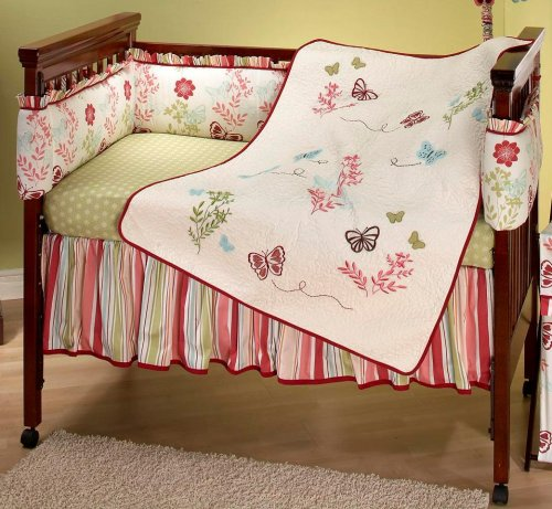 NoJo Alexis Garden 4 Piece Crib Set