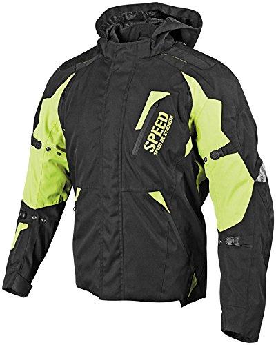 Speed and Strength Urge Overkill Mens Black/Hi-Vis Textile Jacket - Medium