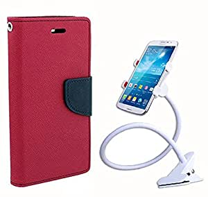 Carla Fancy Diary Card Wallet Flip Case Back Cover For LG G2 - (Pink) + Car Mobile Holder Mount Bracket Holder Stand 360 Degree Rotating by Carla Store.
