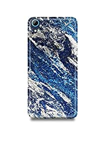 Blue & Silver Marble HTC 728 Case