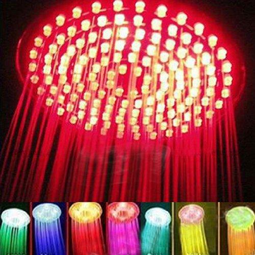 7 Colors Changing LED Shower Head Romantic Light Home Bathroom Showerhead