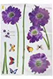 niceeshop(TM) Purple Flower Butterfly Removable Quote Vinyl Room Wall Decals Stickers