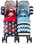 Cosatto Supa Dupa Twin Stroller Sis and Bro 4 (Blue)