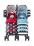 Cosatto Supa Dupa Twin Stroller Sis and Bro 4 (Blue)