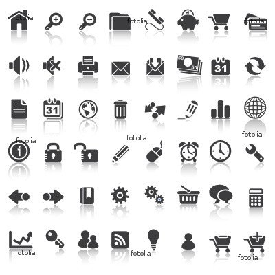 48 Icons Set 1 Website & Business Wall Decal (12
