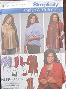 Simplicity Pattern 4051 Women's Jackets, Vest And Bag Size Ff 18w-24w from SIMPLICITY