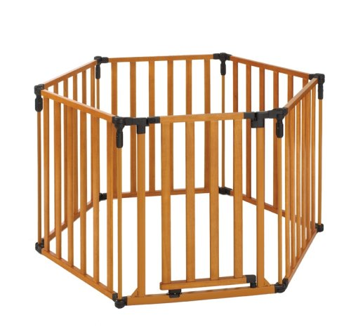 North States Superyard 3 in 1 Wood Gate (North States Super Play Yard compare prices)