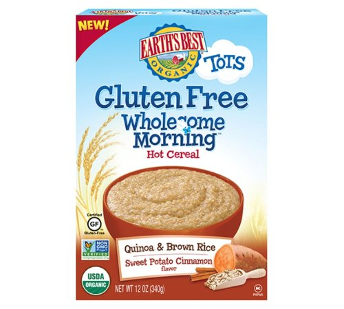 Earth'S Best Tots Gluten Free Wholesome Mornings Quinoa And Brown Rice Sweet Potato Cinnamon Cereal, 12 Ounce