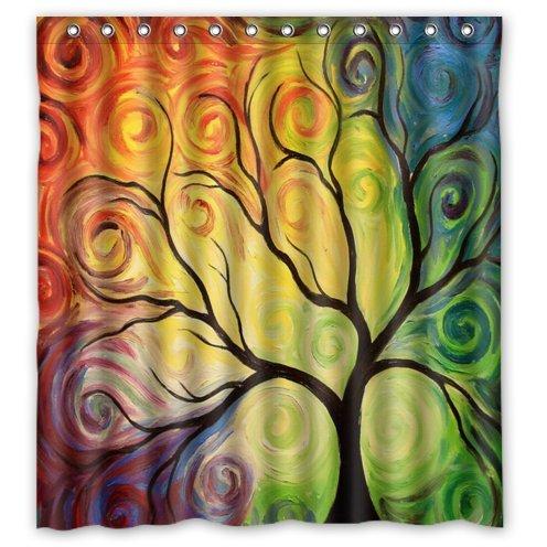 Art tree, tree art, tree of life Bathroom 100% Polyester Shower Curtain