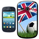 Fancy A Snuggle Union Jack UK Flag with Black and White Football Design Hard Case Clip On Back Cover for Samsung Galaxy Fame S6810