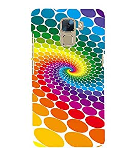 Vizagbeats Color Dots Back Case Cover for Huawei Honor 7