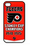 Philadelphia Flyers Logo NHL HD image case cover for iphone 4/4S black A Nice Present at Amazon.com