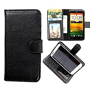 DooDa PU Leather Wallet Flip Case Cover With Card & ID Slots & Magnetic Closure For Karbonn A21