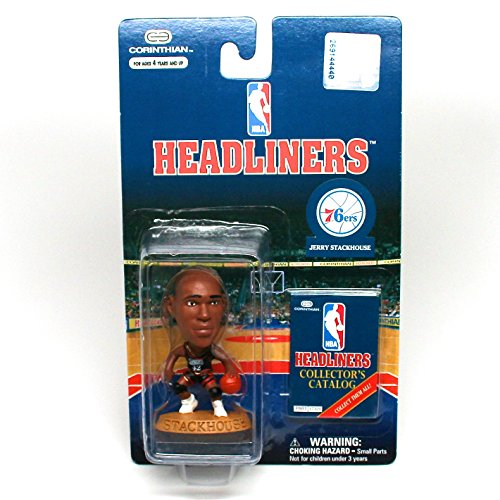 JERRY STACKHOUSE / PHILADELPHIA 76ERS * 3 INCH * NBA Headliners Basketball Collector Figure - 1