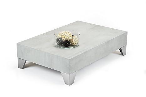 Mobilifiver Evolution 90 Tavolino da Salotto, Legno, Cemento, 90x60x24 cm