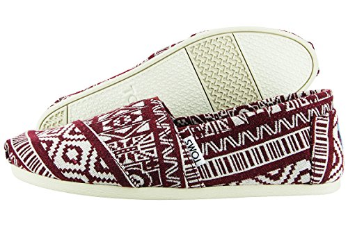 Tom - Women Slip-On Shoes, Size: 6 B(M) US, Color: Oxblood Tribal (Toms Shoes Size 6 compare prices)
