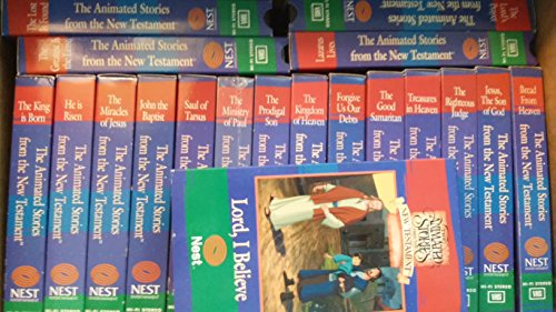 COMPLETE 17 VHS SET The Animated Stories From the New Testament: King Is Born, Forgive Us Our Debts, Righteous Judge, John the Baptist, Good Samaritan, Saul of Tarsus, Prodigal Son, Greatest Is the Least, Bread From Heaven, Miracles of Jesus (Bread From Heaven Nest compare prices)