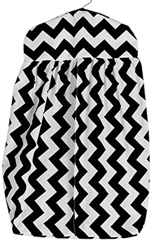 Baby Doll Baby Doll Chevron Diaper Stacker, Black