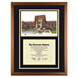 Purdue University Indiana Diploma Frame with Lithograph Art Print ~ Old School Diploma...