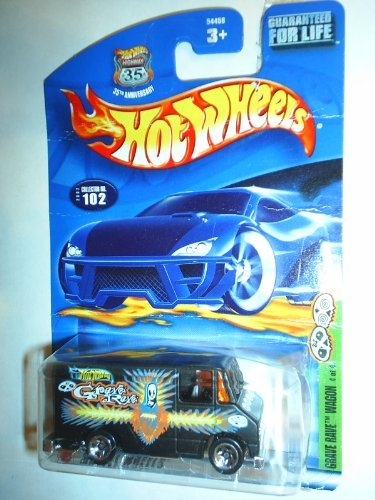Hot Wheels 2002 Grave Rave Series Wagon 4/4 BLACK 102 - 1