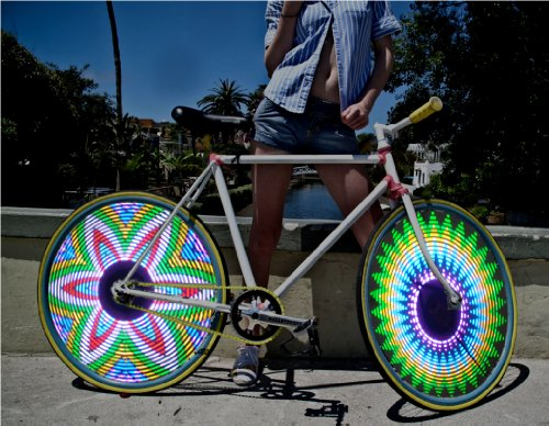 Bike Bicycle Car Motorcycle RGB 16 LED RGB Color Flash Tire Valve Wheel Spoke Light