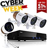 ELEC 720P 2000TVL 4CH AHD Video Security Camera System,and 4 Weatherproof Bullet Cameras with IR-cut Night Vision LEDs,NO Hard Drive