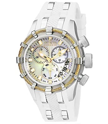Invicta Women's 6945 Reserve Collection Bolt Chronograph White Polyurethane Watch