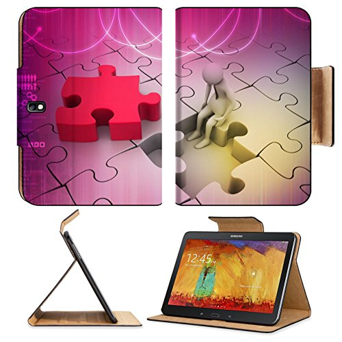 Samsung Galaxy Tab Pro 10.1 Tablet Flip Case Finance concept Risk on puzzle piece IMAGE 30783167 by MSD Customized Premium Deluxe Pu Leather generation Accessories HD Wifi Luxury Protector