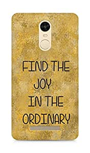 AMEZ find the joy in the ordinary Back Cover For Xiaomi Redmi Note 3
