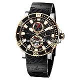 New Mens Ulysse Nardin 18k Rose Gold Maxi Marine Diver Titanium Watch 265-90-3C/92 (Color: Rose Gold)