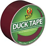 Duck Brand 1311061 Color Duct Tape, Maroon, 1.88-Inch by 20 Yards, Single Roll