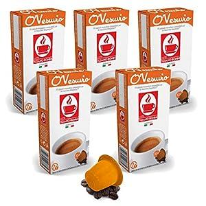 Get Bonini Coffee Capsules, O'Vesuvio - Nespresso Compatible- 5-Pack (5x10 Capsules) - Caffè Tiziano Bonini