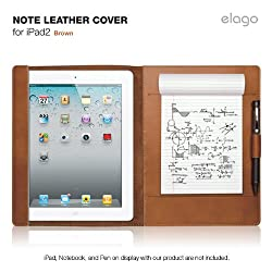 elago Note Leather Cover for iPad2,3,4 - Brown