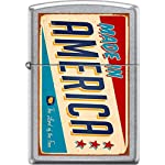 Zippo Made In America Sign Retro Rusted Street Chrome WindProof Lighter NEW