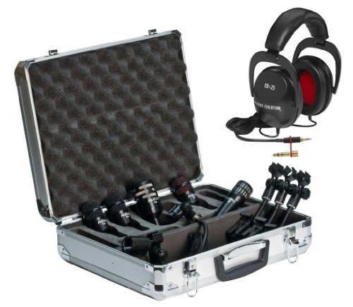 Audix Professional 5-Piece Drum Mic Package Includes Direct Sound Ex-25 Extreme Isolation Headphones