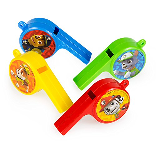 Paw Patrol Whistle Favors 12 Count